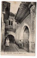MAROC - MEKNES - Entrée Des Médersa - Animée - 1919 (T96) - Meknes