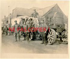 PHOTO ALLEMANDE 4 G. Regt. Zu Fuß - TRACTEUR TRANSPORT DE MATERIEL A HAM PRES DE VOYENNES - SOMME GUERRE 1914 1918 - 1914-18