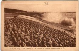 61lf 742 CPA - LA POINTE DE GRAVE - LES TRAVAUX DE DEFENSE - Soulac-sur-Mer