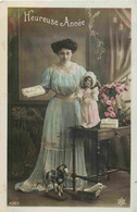 Fantaisie Femme   Poupée Doll Heureuse Année CPA  PC 4369 - Jeux Et Jouets