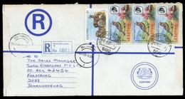 1986, Lesotho, 597 X (3) U.a., Brief - Lesotho (1966-...)