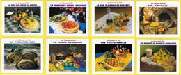 CPM ♣♣♥☺♥♣♣ Lot 8 Cartes Recette Cuisine ♣♣♥☺♥♣♣ RECETTES DU MIDI  ֎ - Recipes (cooking)