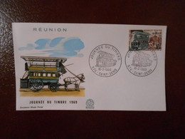 REUNION FDC YT 383 JOURNEE DU TIMBRE 1969 - Zonder Classificatie