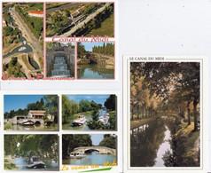 LE  CANAL  DU  MIDI  -  LOT DE  5  CPM   DIVERS   LIEUX   - ( 20 / 10 / 330 ) - Languedoc-Roussillon