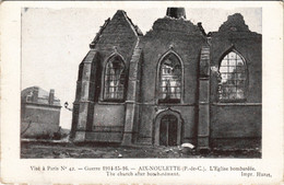 CPA La Guerre 1914-15-AIX-NOULETTE L'Église Bombardee (129738) - Francia