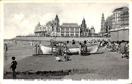 Oostende - La Plage Vers Le Kursaal (animation Barque 1937) - Oostende