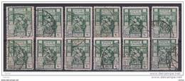 LIBIA  ITALIANA:  1924  SIBILLA  -  20 C. VERDE  US. -  RIPETUTO  12  VOLTE  -  D. 14  -  SASS. 40 - Libya