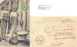 MADAGASCAR TANANARIVE-2 TàD 1 OCT 09  YT N° 42A  CP => Sergent 11E Cie 23e Colonial Port Royal PARIS > CAMP VALBONNE AIN - Brieven En Documenten