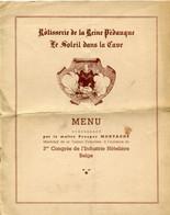 15 Juin 1939 Maitre Prosper Montagné Avec Son Signature - 3me Congrès De L'Industrie Hotelière Belge - Reine Pédauque - Menu