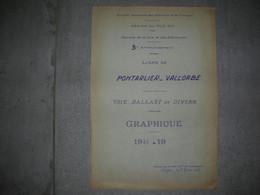 SNCF - PONTARLIER VALLORBE EN SUISSE / La Cluse Et Mijoux Hopitaux Neufs Jougne - Documenti Storici