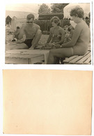 1960 Original 12x9 Home Private Photo Photography Vintage Young Man Male Pants Pin Up Beach Woman Cards USSR Russia 6577 - Pin-ups
