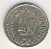 SINGAPORE 1970: 20 Cents, KM 4 - Singapore