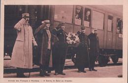 Montana Sur Sierre VS, Arrivée Des Prisonniers De Guerre Français Internés En Suisse, Le Salut Au Drapeau  (2.4.1916) - War 1914-18