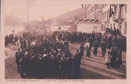 Montana Sur Sierre VS, Arrivée Des Prisonniers De Guerre Français Internés En Suisse, Terrasse Du Palace (2.11.1916) - War 1914-18