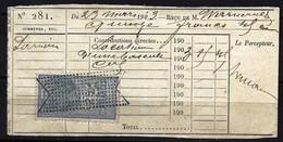 France 1891/92 - Timbre Fiscal Quittances - Médaillon De Tassey - YT Q 12b - Sur Document 1903 - Fiscali