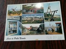 Casa De Pablo Neruda ( Chili) + Timbre Chilien Jeux Olympiques Sydney 2000 - Postkaarten