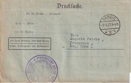 DANZIG  1927 LETTRE EN FRANCHISE - Danzig