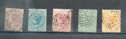 A 197 - MAURICE. - YT 31-31-34-36-38 ° Obli - Filigrane CC - Mauritius (...-1967)