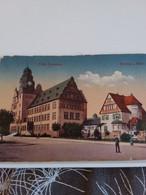 Carte Postale De   WORMS à.rhein     GROßH GYMNASIUM  (coin Bas Droit écorné ) - Postkaarten