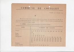Brief / Lettre Van Commune De Couillet - Enlèvement Des Immondices Par Camion - 1920 - Anuncios