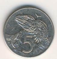 NEW ZEALAND 1989: 5 Cents, KM 60 - Nieuw-Zeeland