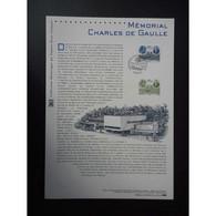 Document Officiel La Poste - Mémorial Charles De Gaulle - Postdokumente