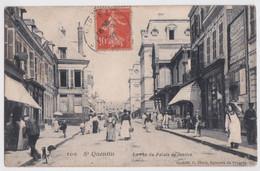 Saint-Quentin (Aisne) - La Rue Du Palaise De Justice Plaque Cérébos - Bloch éditeur - Saint Quentin