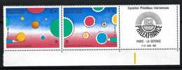 France 1982: Paire BDF De Se-tenant, Neufs** - Sheetlets