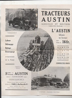 LIANCOURT (60)  /PARIS / PROSPECTUS Tracteur AUSTIN (PPP25276) - Pubblicitari