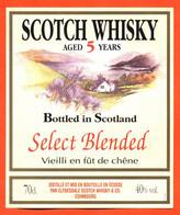 """étiquette De Scotch Whisky D'écosse 5 Ans D'age Clydesdale à Edimbourg """"  70 Cl - Whisky"""