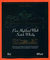 """étiquette De Scotch Whisky D'écosse Pure Malt 12 Ans D'age Clydesdale à Edimbourg """"  70 Cl - Whisky"""