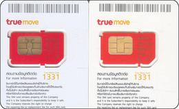 2 X Thailand  Phonecard GSM Card TRUE Mint Diff. Sim - Thailand