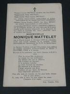 Monique M'atteler /Orp-le-Grand 1930-1948 - Overlijden