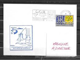 Aviso DROGOU - Cinquantenaire De La Libération De LA ROCHELLE - Flamme Temporaire  LA ROCHELLE GARE 08/05/95 - Correo Naval