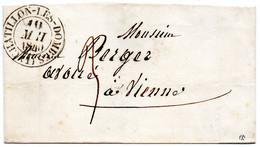 Cachet 13 CHATILLON LES DOMBES,L.S.C. Du 10/5/40 - 1801-1848: Voorlopers XIX