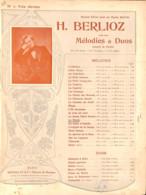 Le Matin, Romance Berlioz, Partition Ancienne, Grand Format, Couverture Illustrée Art Nouveau ED. - Scores & Partitions