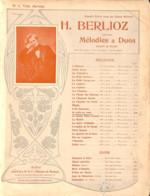 Je Crois En Vous, Berlioz Partition Ancienne, Grand Format, Couverture Illustrée Art Nouveau ED. - Scores & Partitions