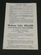 Julie Delaide, Veuve Julien Pierre / Huppaye 1879-1955 - Overlijden