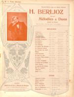 Au Cimetière, Berlioz Partition Ancienne, Grand Format, Couverture Illustrée Art Nouveau ED. - Scores & Partitions