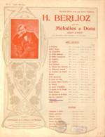 Villanelle Berlioz, Partition Ancienne, Grand Format, Couverture Illustrée Art Nouveau ED. - Scores & Partitions