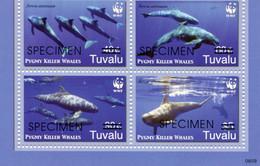 "WWF - Tuvalu - Mi.Nr. 1307 / 1310 - ""Zwerggrindwal"" ** / MNH ""SPECIMEN"" - Unused Stamps"