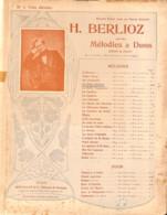 La Belle Isabeau, Berlioz Partition Ancienne, Grand Format, Couverture Illustrée Art Nouveau ED. - Scores & Partitions