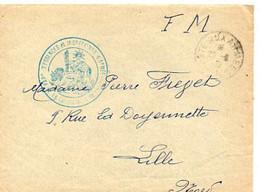 E 13 1939  Lettre  + Courrier En FM Parc Essences.... - WW II