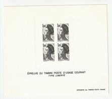 Frankreich 1982 Michel 2339, Yvert 2220, Épreuve En Noir, Schwarzdruck, Type Liberté - Sheetlets