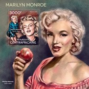 CENTRAFRICAINE 2014 SHEET MARILYN MONROE Ca14605b - Central African Republic