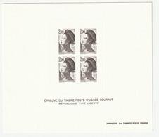 Frankreich 1983 Michel 2401, Yvert 2274, Épreuve En Noir, Schwarzdruck, Type Liberté - Sheetlets