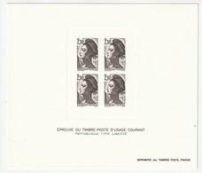 Frankreich 1984 Michel 2455, Yvert 2319, Épreuve En Noir, Schwarzdruck, Type Liberté - Sheetlets