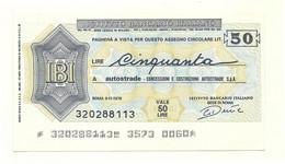 1976 - Italia - Istituto Bancario Italiano - Autostrade - Concessioni E Costruzioni Autostrade S.p.A. - [10] Chèques