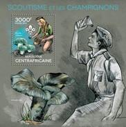 CENTRAFRICAINE 2014 SHEET SCOUTS SCOUTISME MUSHROOMS CHAMPIGNONS FUNGHI COGUMELOS PILZEN Ca14324b - Central African Republic