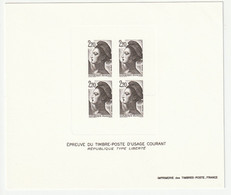 Frankreich 1985 Michel 2510, Yvert 2376, Épreuve En Noir, Schwarzdruck, Type Liberté 2,20fr. - Sheetlets